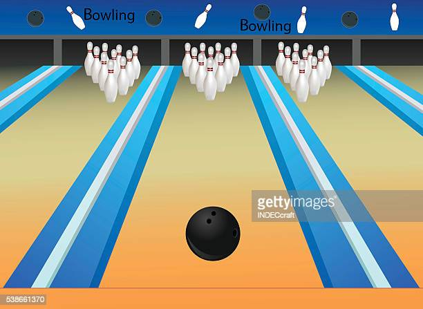 Bowling alley stock illustrations and cartoons getty images - Bowling dessin ...