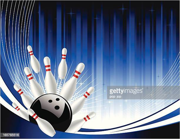 bowling background - bowling pin stock illustrations