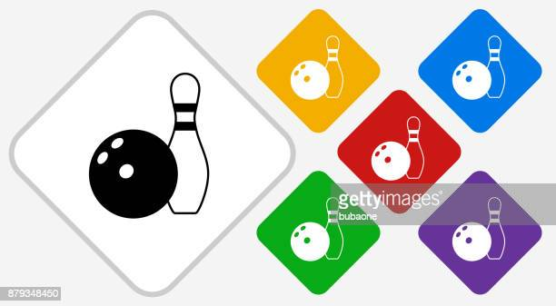 bowling ball and pin color diamond vector icon - {{relatedsearchurl('county fair')}} stock illustrations, clip art, cartoons, & icons