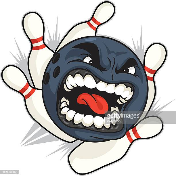 bowling ball - straight pin stock illustrations, clip art, cartoons, & icons