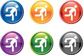 bowling figure button royalty free vector art