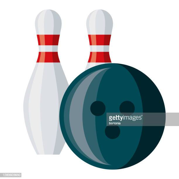 bowling icon on transparent background - bowling pin stock illustrations
