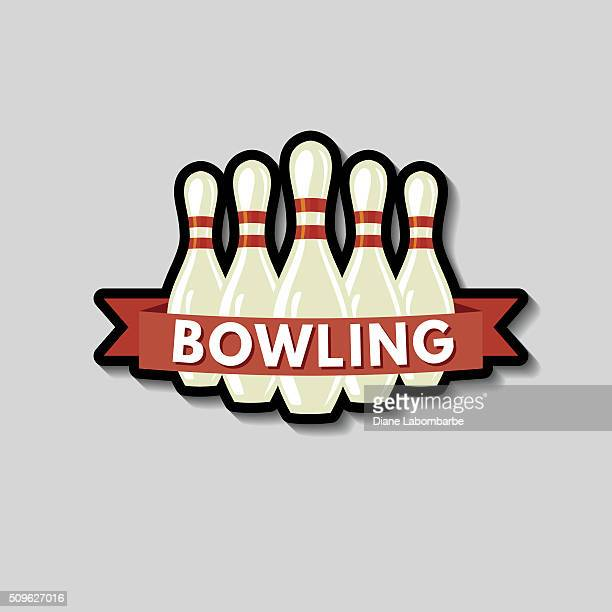 Bowling-Symbol auf einem grauen Hintergrund Aufkleber
