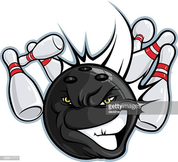 bowling mascot - bowling ball stock illustrations, clip art, cartoons, & icons