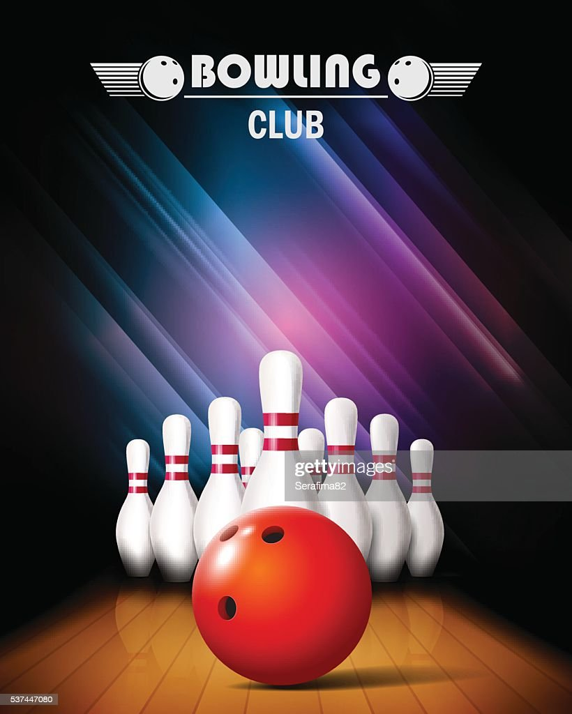 Bowling tournament poster.