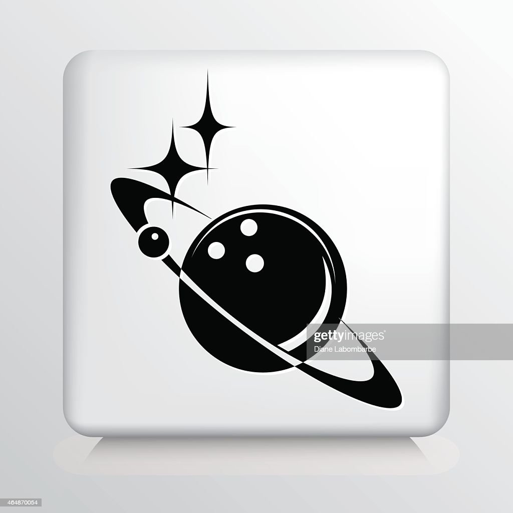 Bowling Universe Jupiter Planet On Round Button Icon