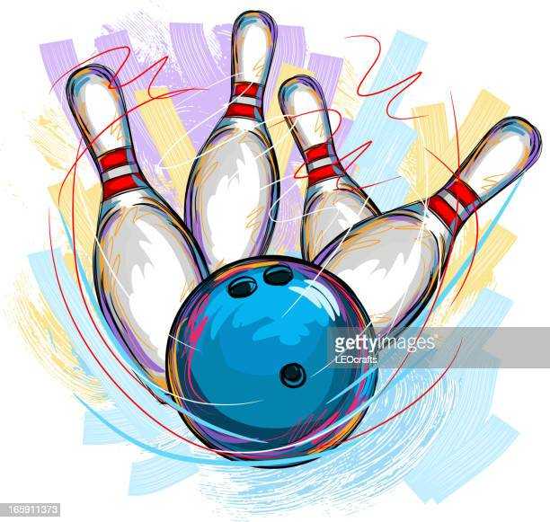 bowling - bowling stock illustrations