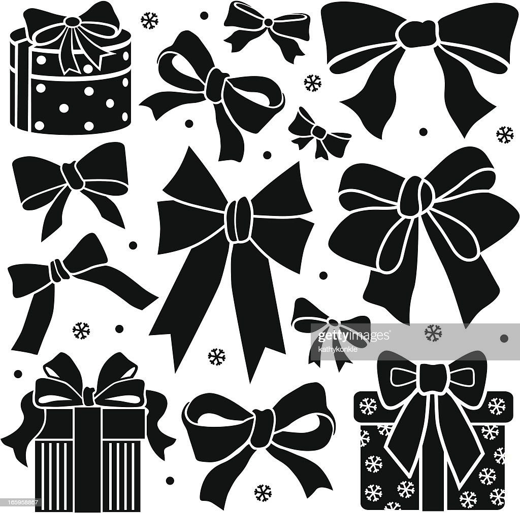 bows and presents design elements