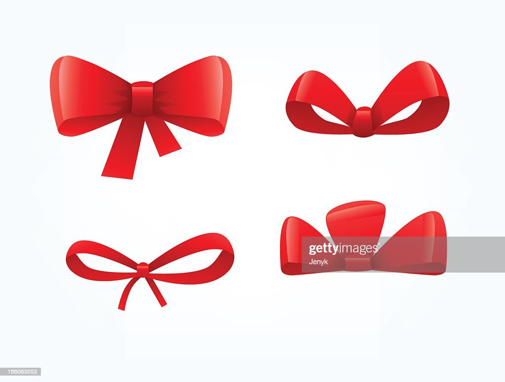 Bows tied up in different ways set