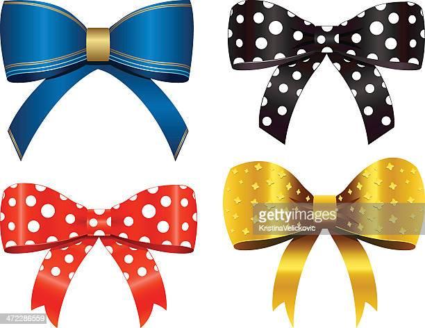 bows - hair bow stock illustrations