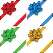 Bows with ribbons