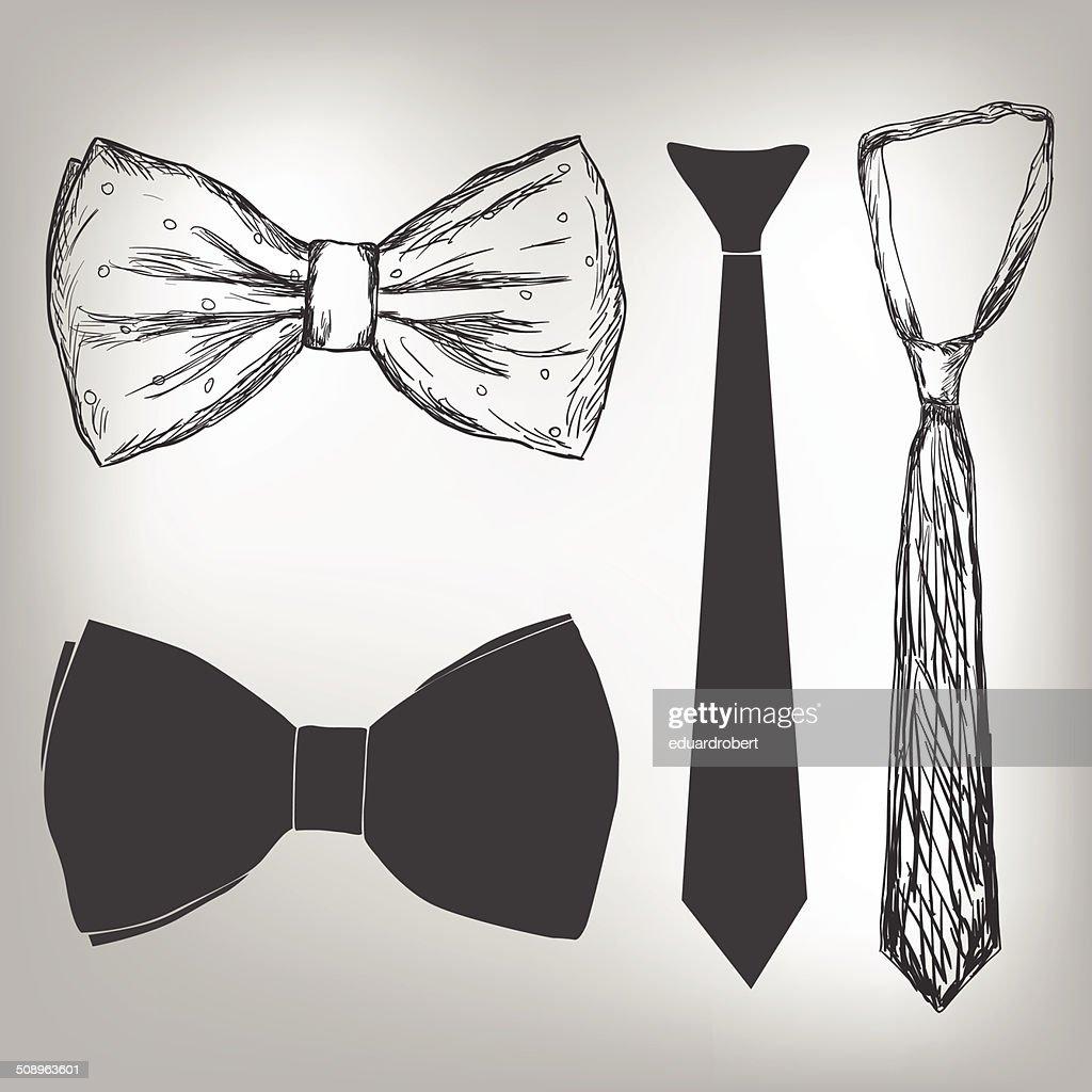 Bowtie and neck tie