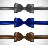 Bowtie vector set - grey, navy and brown