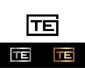 TE Box circle shape vector design