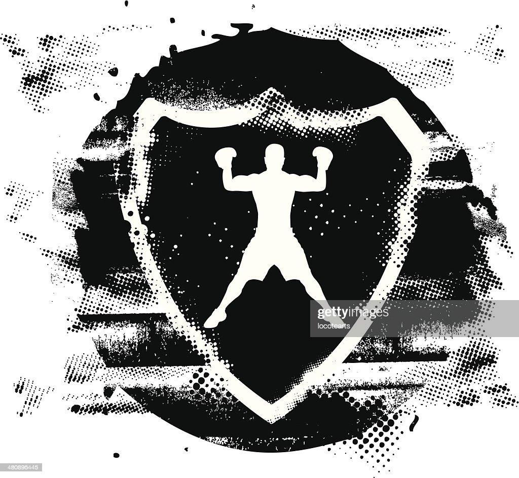 box fighter with stencil shield