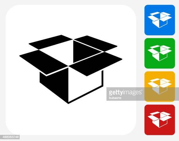 illustrations, cliparts, dessins animés et icônes de icône plat boîte de conception graphique - déménagement