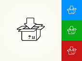 Box Input Black Stroke Linear Icon