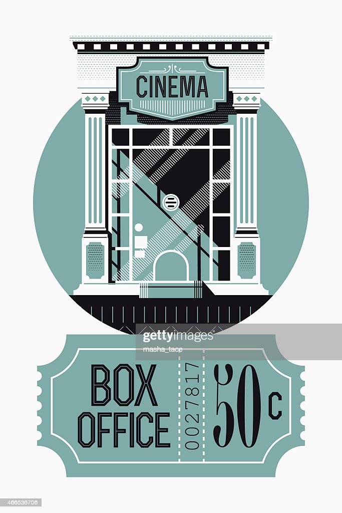 Box office concept design with movie theater tickets booth