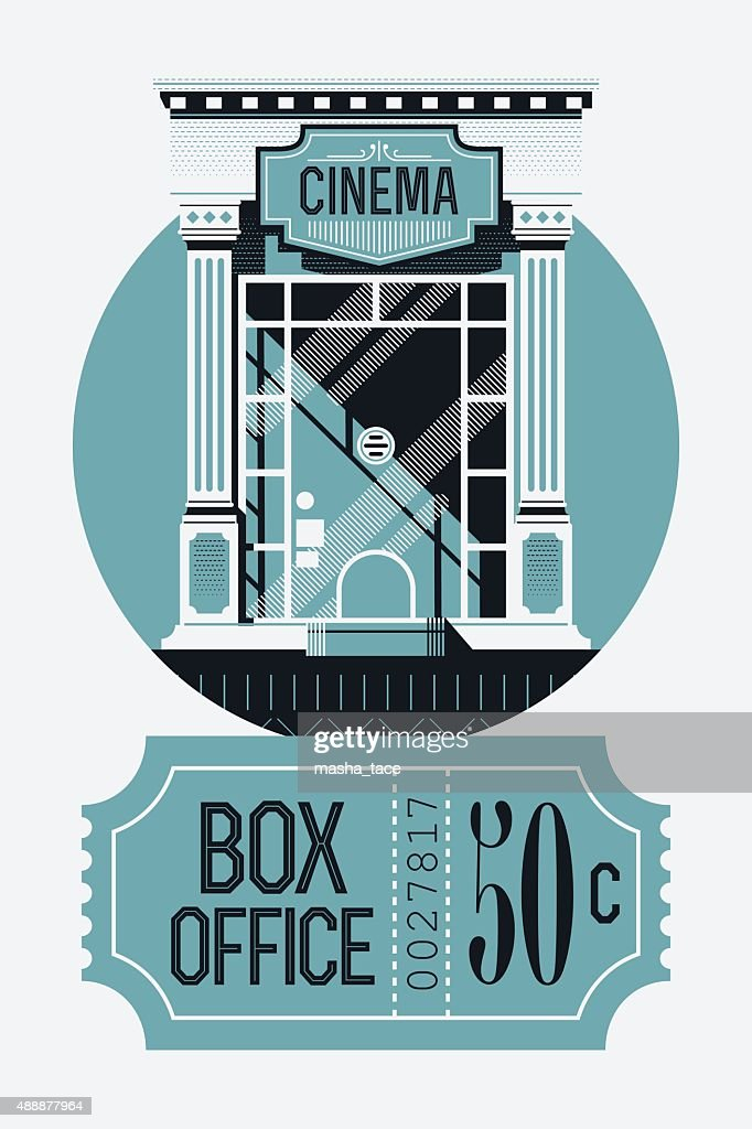 Box office visual with ticket counter and ticket