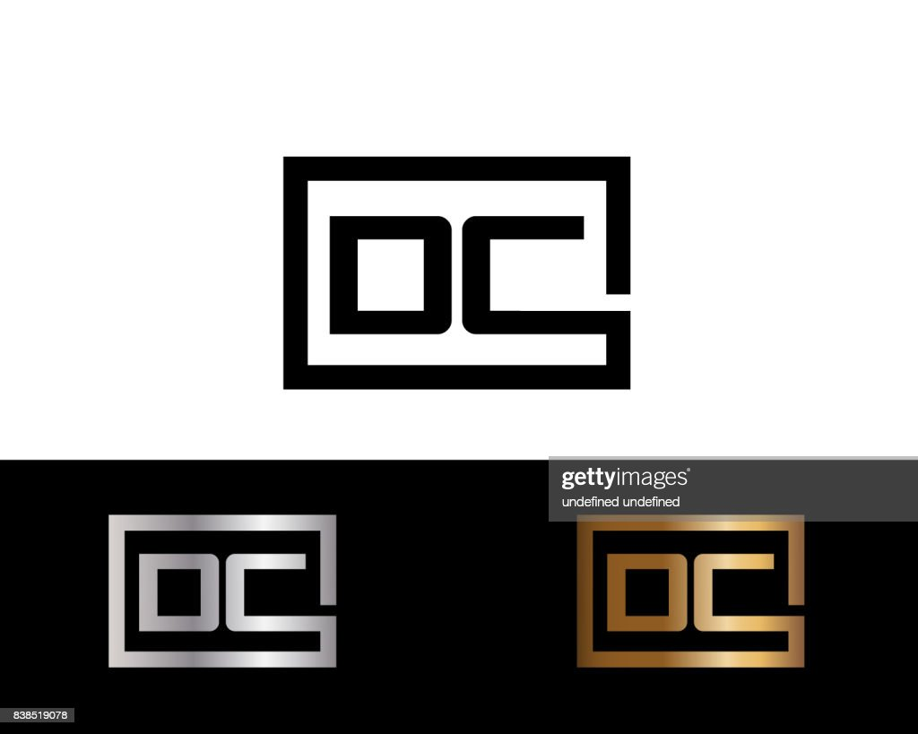 Oc Box Shape Icon Letter Design Vector With Black Gold Silver Colors