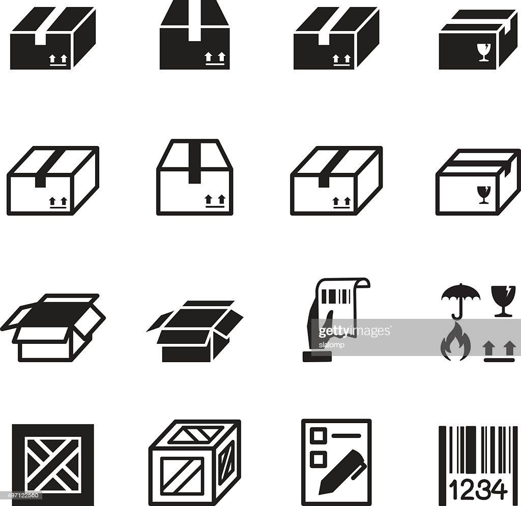 Box , Shipping & Logistics icons set
