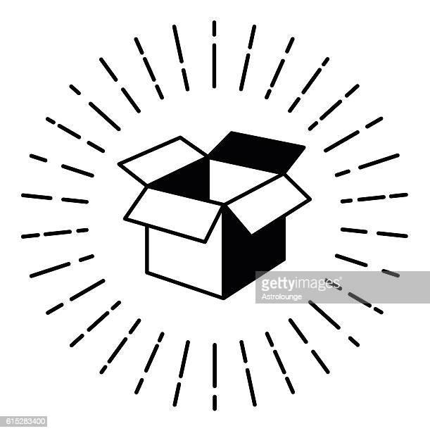 ilustrações, clipart, desenhos animados e ícones de caixa de - aberto