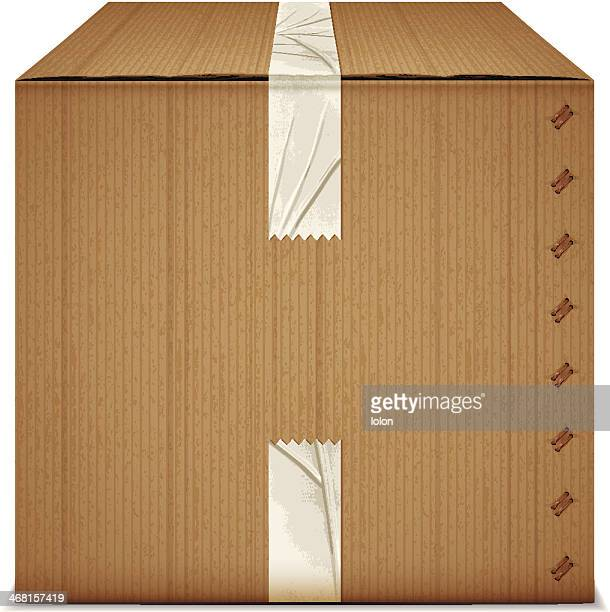 box with adhesive tape