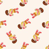 boxer , cartoon seamless pattern background