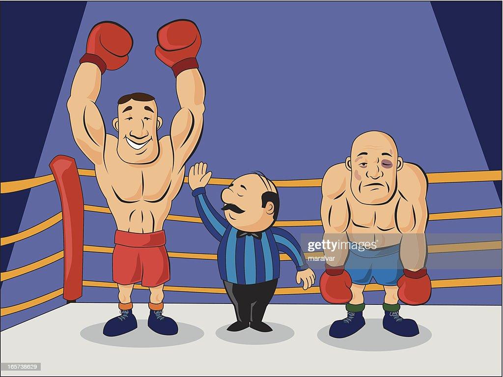 Campeão de boxe : Ilustração