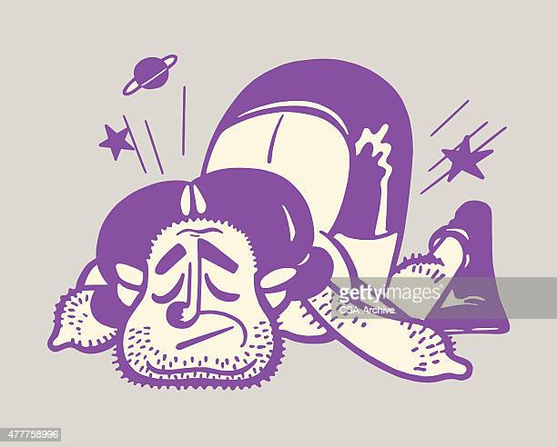 boxer knockout - knockout stock illustrations, clip art, cartoons, & icons
