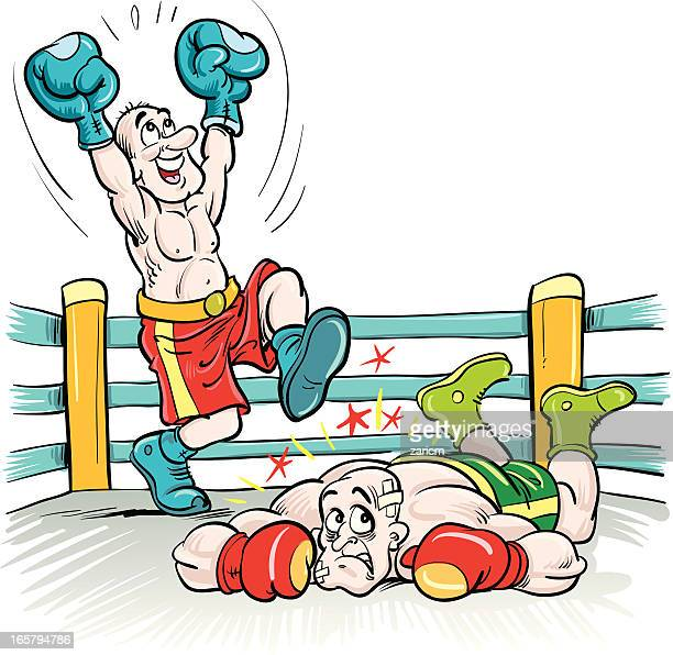 boxers - knockout stock illustrations, clip art, cartoons, & icons