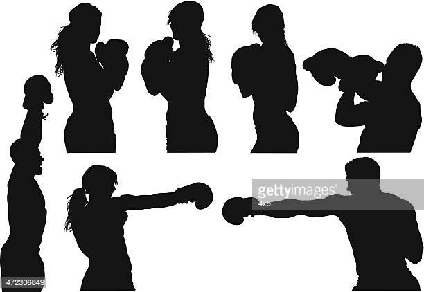 boxers - combat sport stock illustrations, clip art, cartoons, & icons