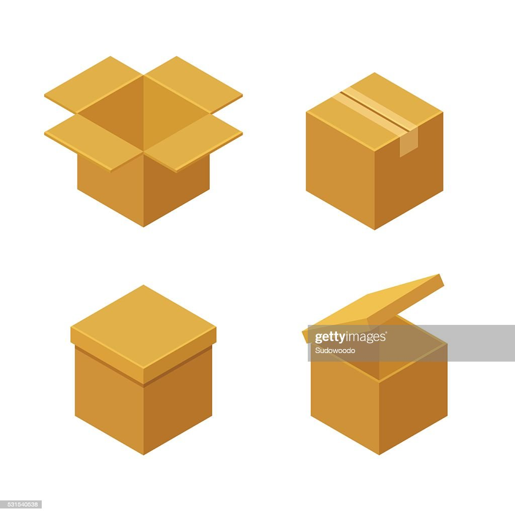 Boxes and packaging icons