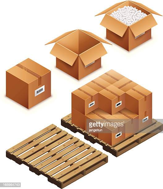 Boxes and pallet