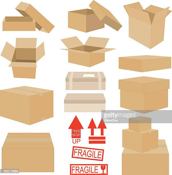 boxes and stuff - stacking stock illustrations