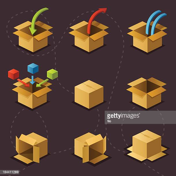 boxes on grey - closed stock illustrations, clip art, cartoons, & icons