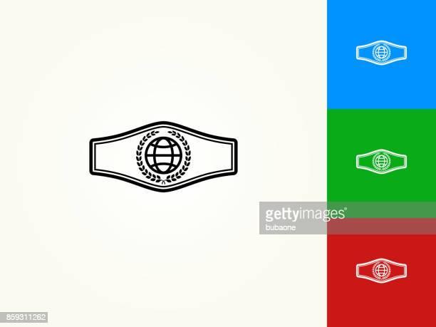 Boxing Belt Black Stroke Linear Icon