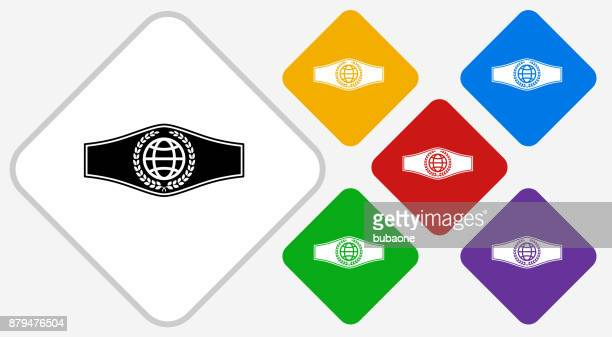 Boxing Belt Color Diamond Vector Icon