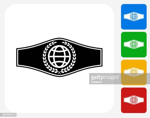 Boxing Belt Icon Flat Graphic Design