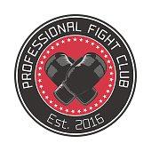 Boxing club vector emblem