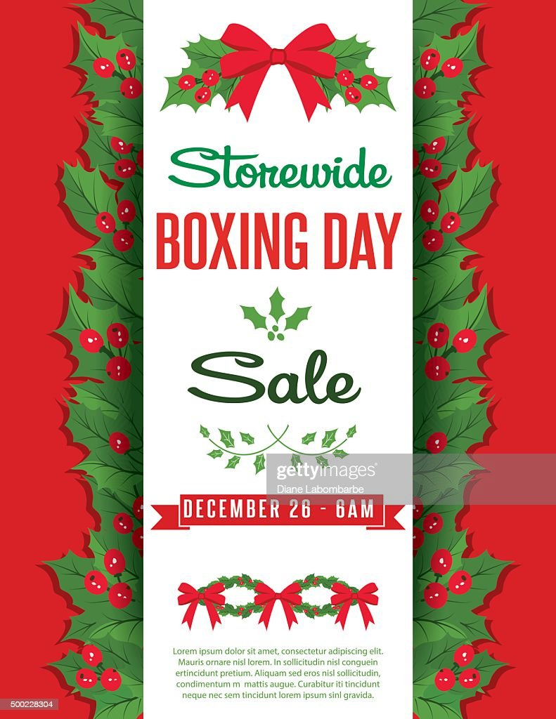 Boxing Day Christmas Sale Ad Template