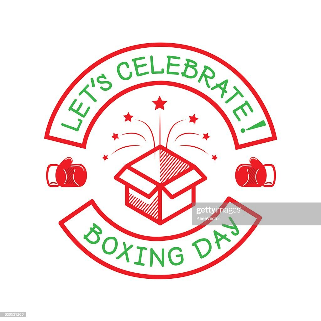 boxing day logo with box