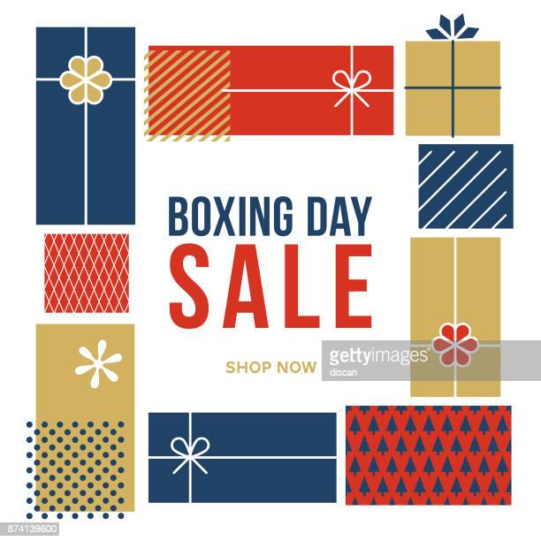 boxing day sale advertisement. - boxing day stock illustrations