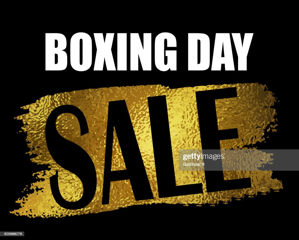 Boxing day sale banner.
