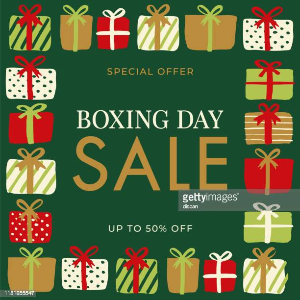 boxing day sale design for advertising, banners, leaflets and flyers. - boxing day stock illustrations