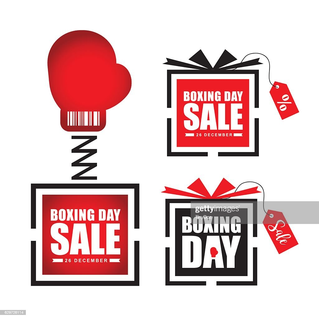 Boxing day sale symbol
