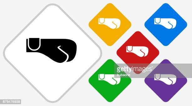 illustrations, cliparts, dessins animés et icônes de gants de boxe couleur diamant vector icon - gant de boxe