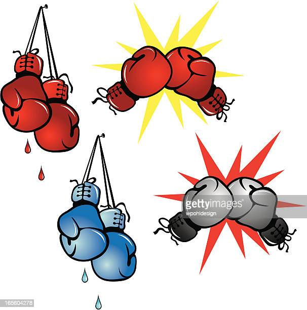 boxing gloves - boxing glove stock illustrations