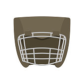 Boxing helmet gray. Boxer mask isolated. Spor Accessory for trai
