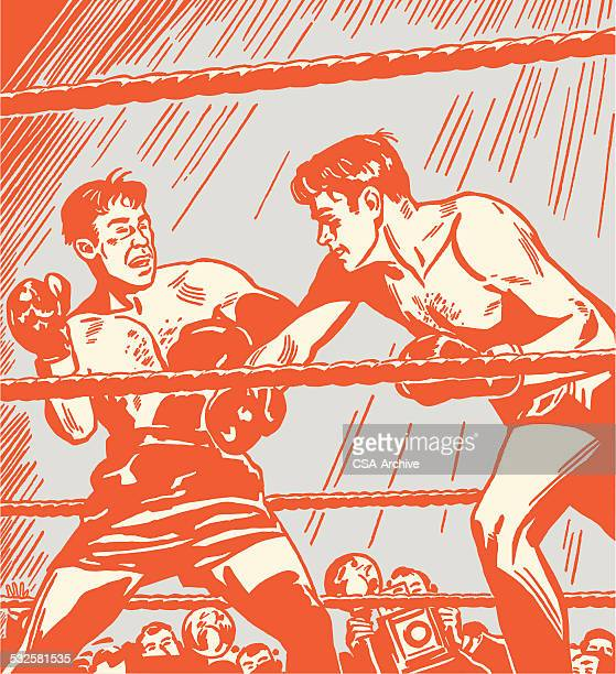 boxing match - masculinity stock illustrations, clip art, cartoons, & icons